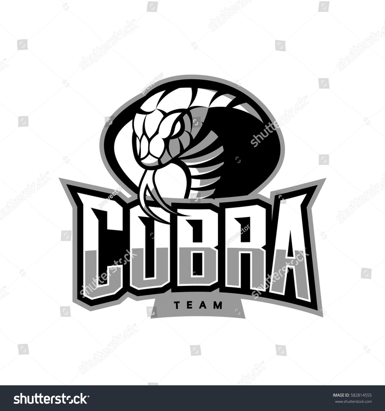 Furious Cobra Sport Vector Logo Concept Stock Vector
