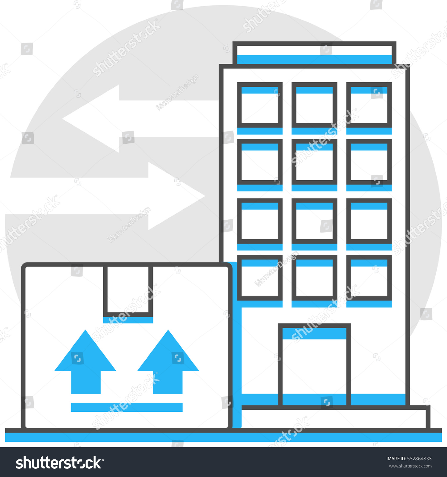 Export Trading Companies Infographic Icon Elements Stock