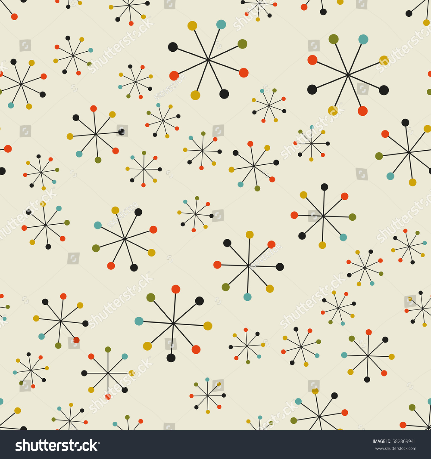100 Mid Century Geometric Patterns Awesome Modern  : stock vector vector seamless mid century absctract geometric pattern space retro design 582869941 from 45.76.23.192 size 1500 x 1600 jpeg 485kB