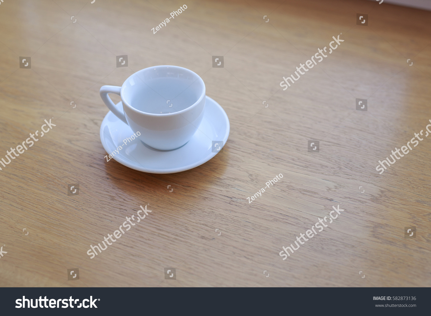 One Pure White Ceramic Cup Saucer Stock Photo Edit Now 582873136