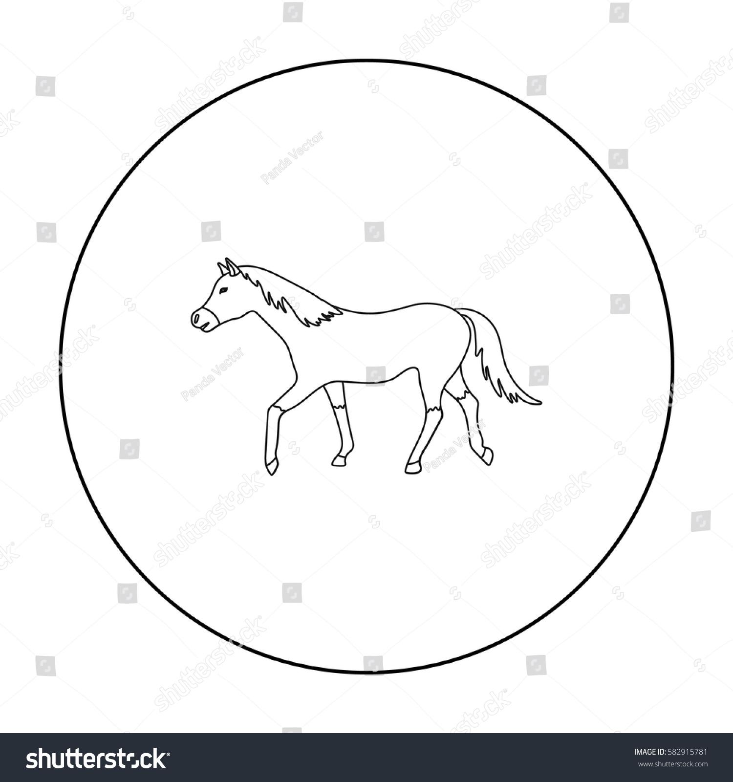 Horse icon outline style isolated on stock vector 582915781 horse icon in outline style isolated on white background hippodrome and horse symbol stock vector buycottarizona
