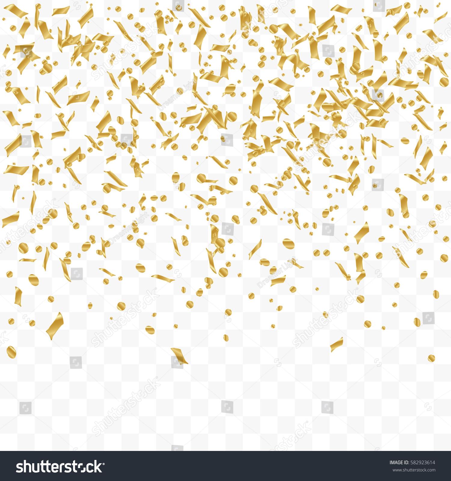 Confetti background vector golden confetti background - Golden Confetti Falling On Transparent Background Vector