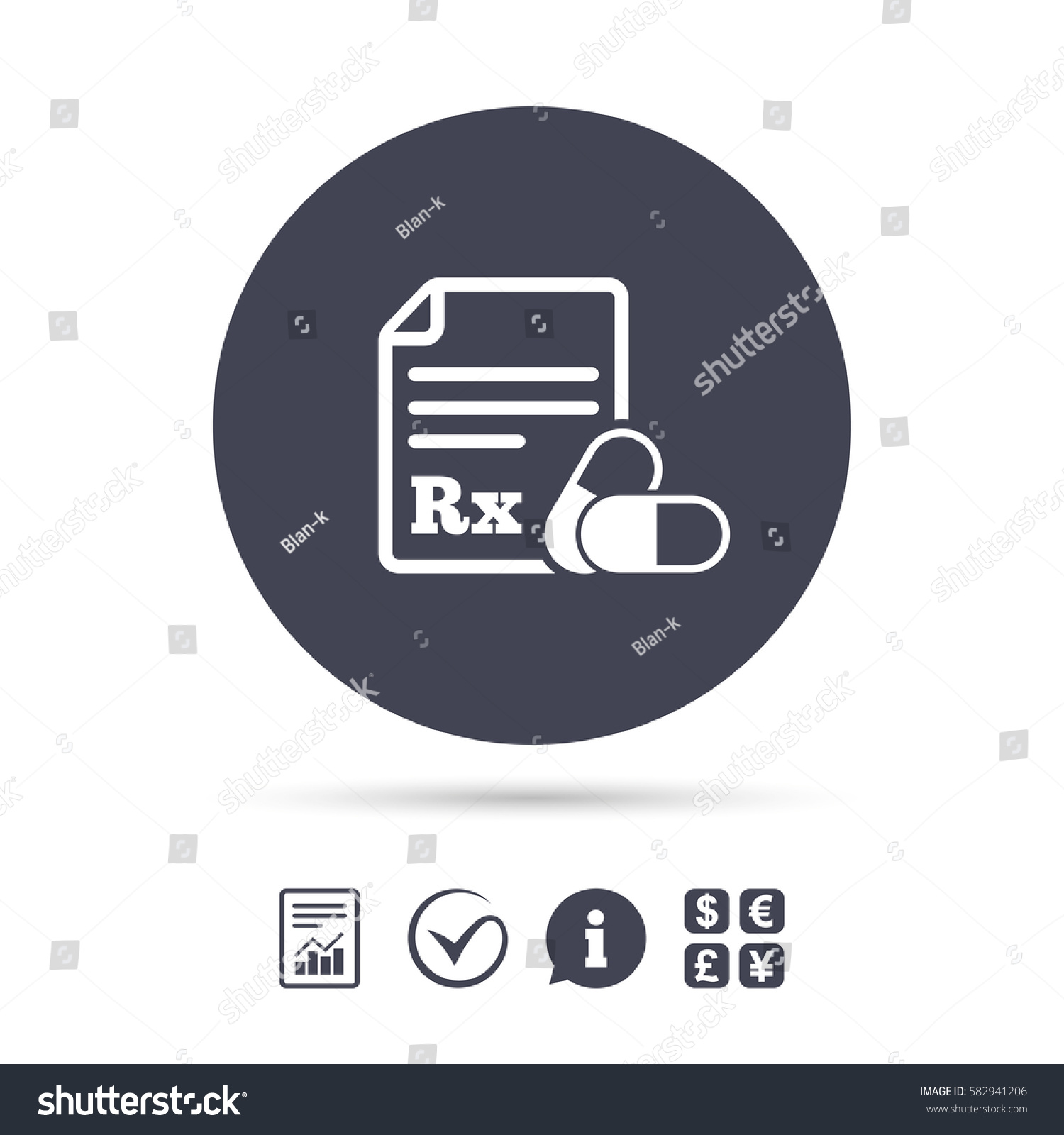 Medical prescription rx sign icon pharmacy stock vector 582941206 medical prescription rx sign icon pharmacy or medicine symbol with two pills report buycottarizona