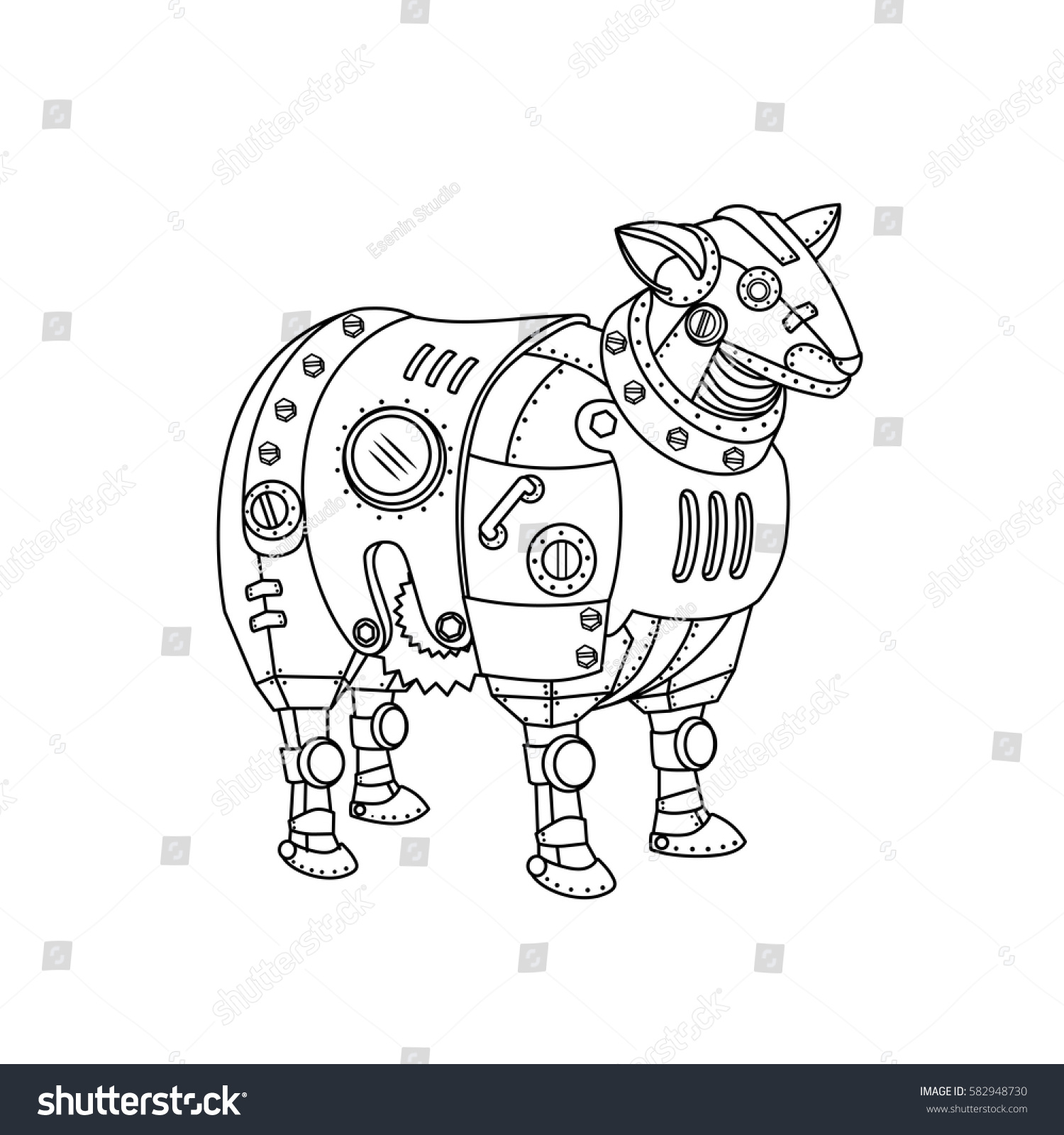 free animal mechanicals coloring pages - photo#9