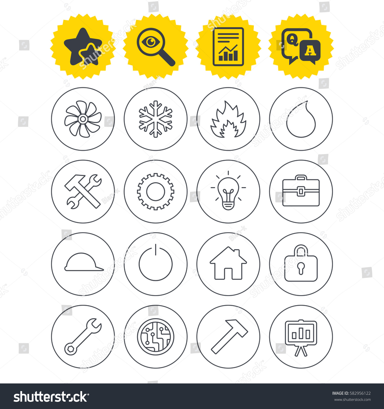 Report Best Quality Star Qa Signs Stock Vector Royalty Free