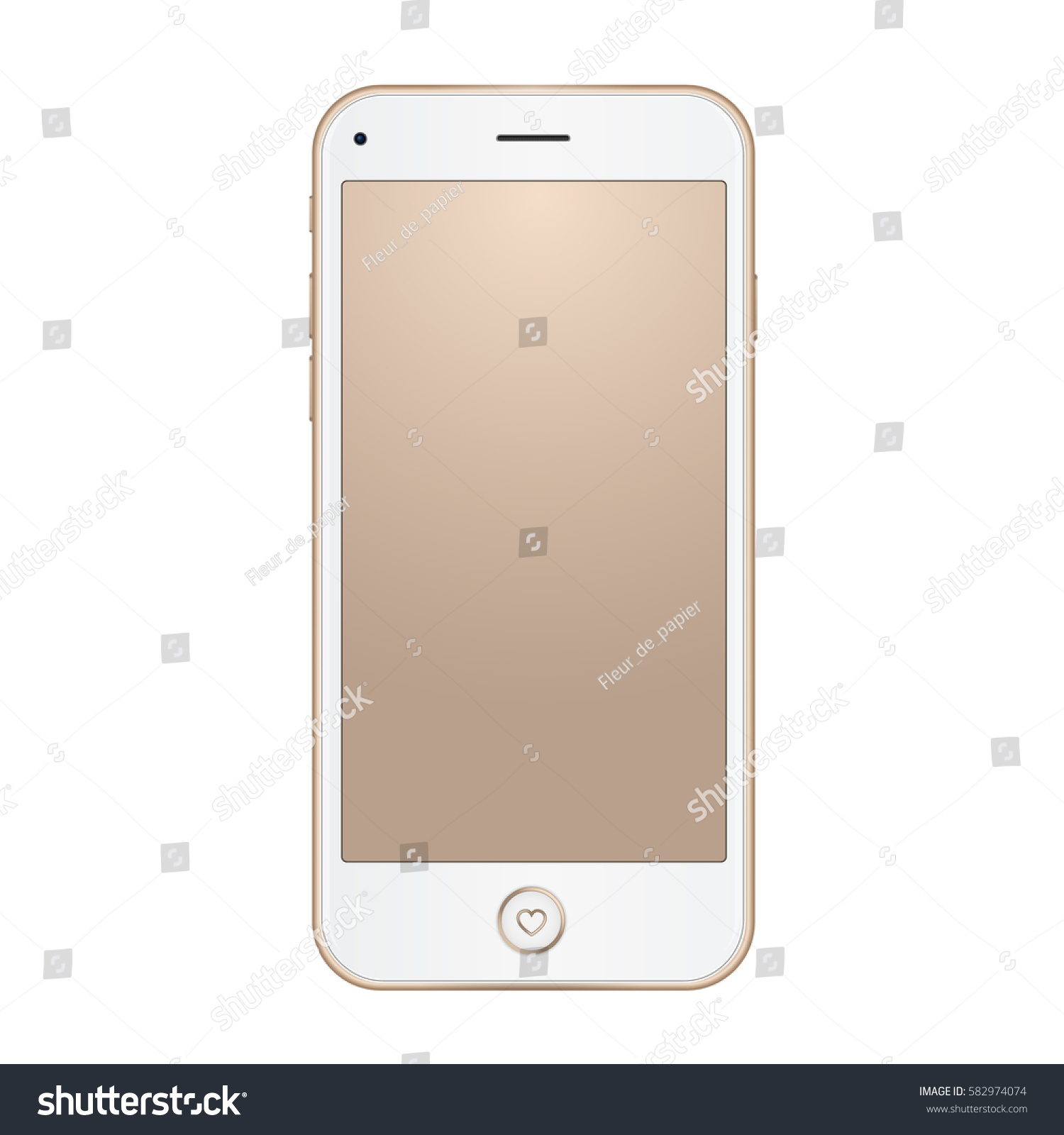 vector gold frame mobile phone empty stock vector 582974074 shutterstock. Black Bedroom Furniture Sets. Home Design Ideas