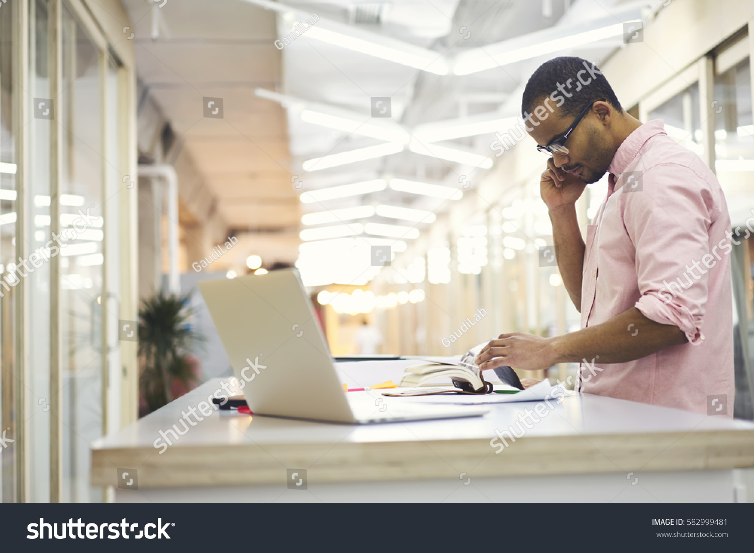 skilled male administrative manager architectural company stock stock photo skilled male administrative manager of architectural company