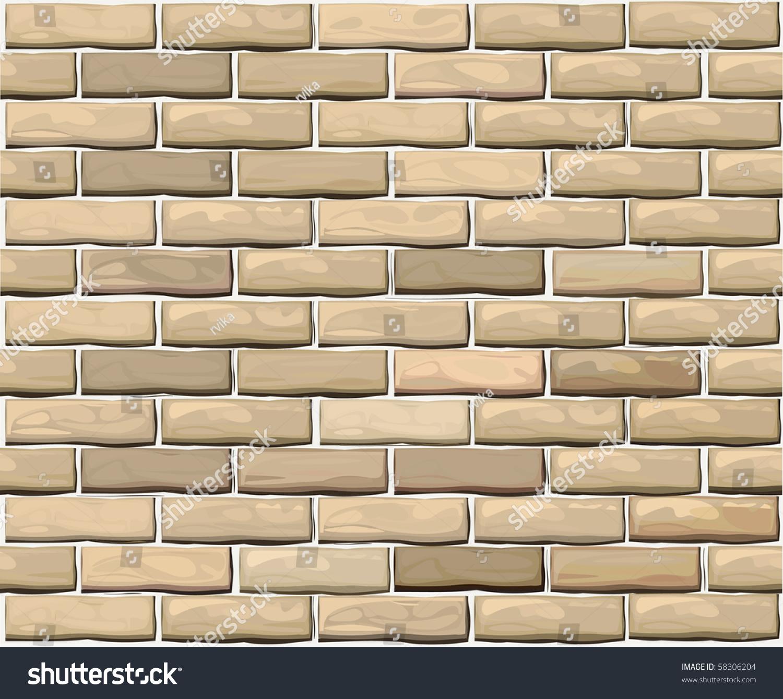 Vector Seamless Brick Wall Made Light Stock Vector 58306204 - Shutterstock