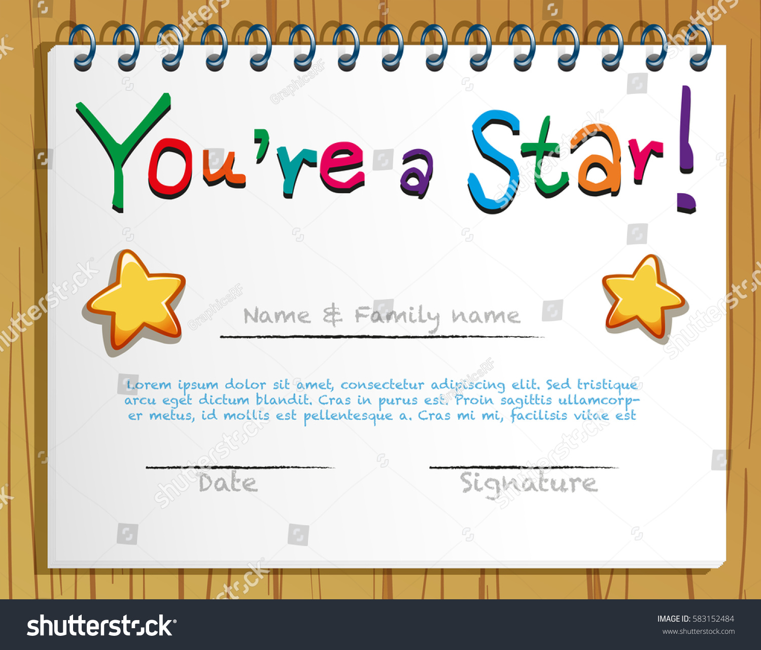 Gold star certificate template images templates example certificate gold star certificate template images templates example yadclub Image collections