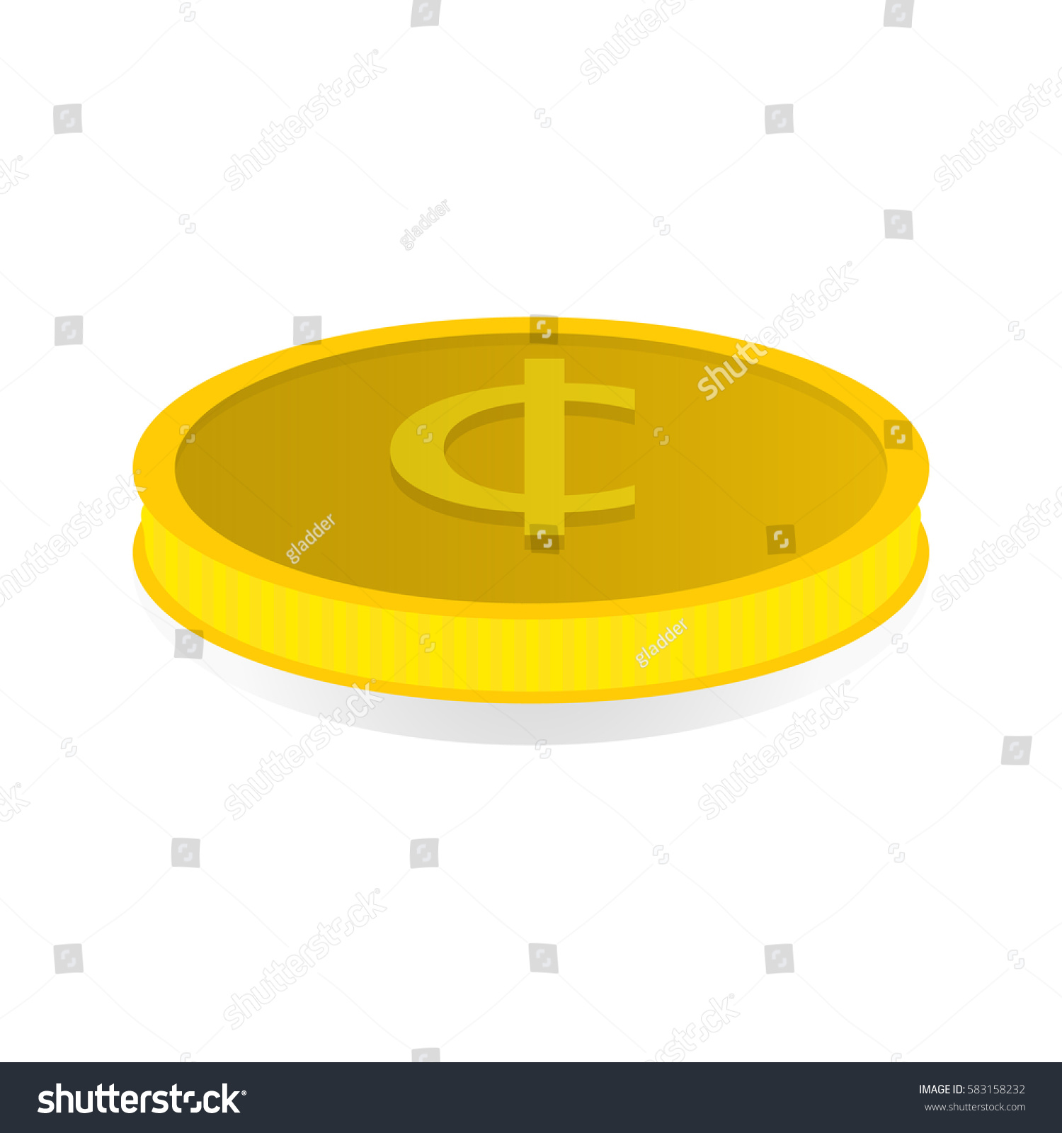 Vector Illustration Of A Gold Coin With Symbol Of Tugrik Ez Canvas