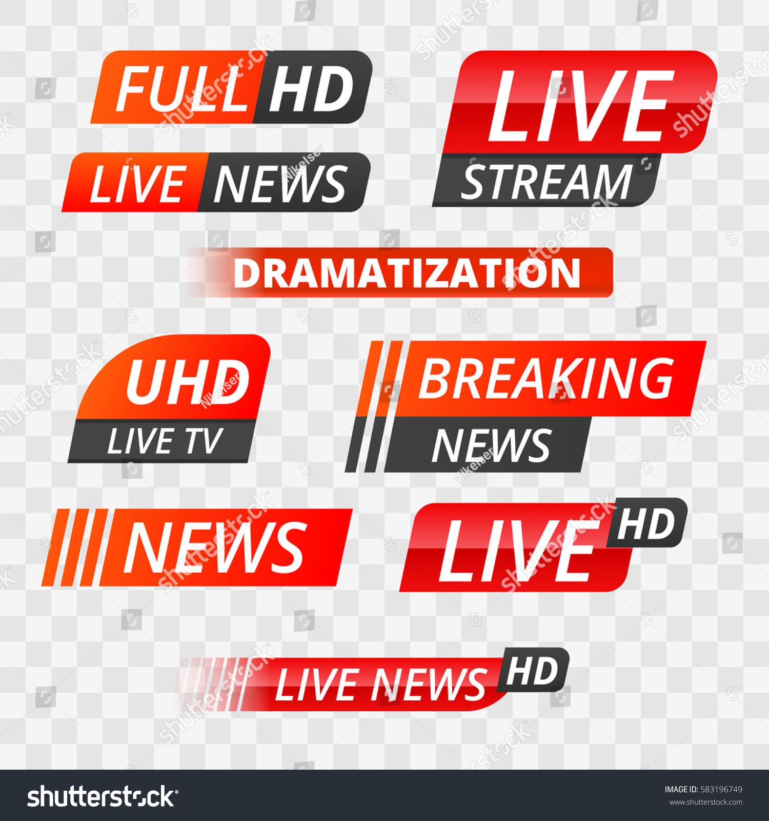 Breaking News: Vector Tv News Banner Interface News Stock Vector
