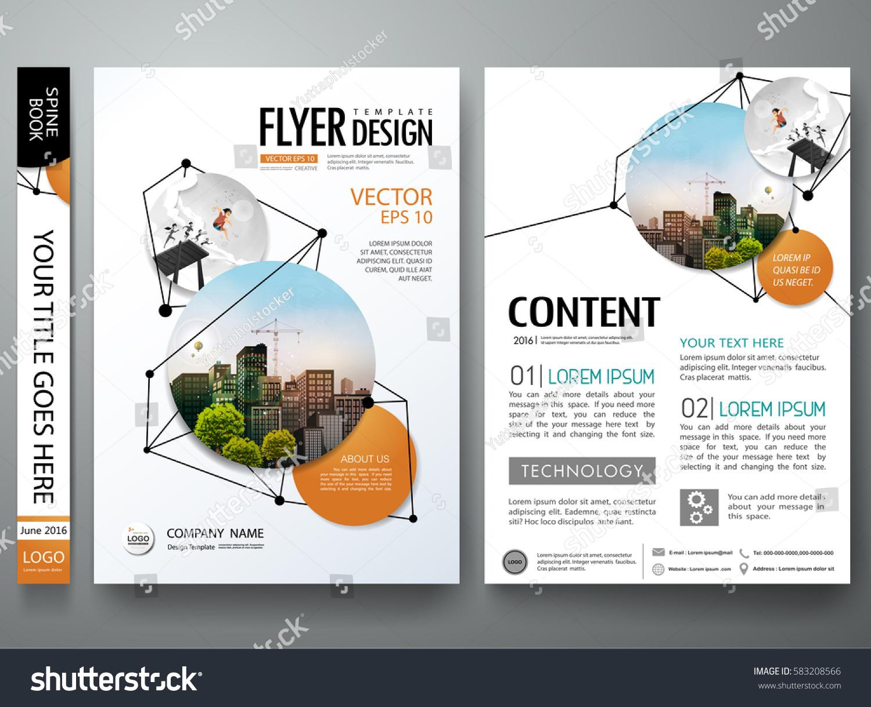 portfolio design template vector minimal brochure のベクター画像