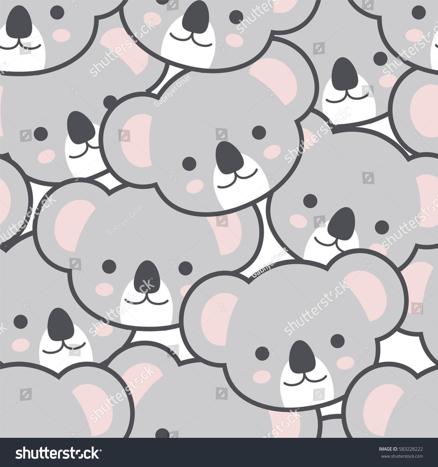 Good Wallpaper Koala Cartoon - stock-vector-seamless-cute-cartoon-koala-pattern-vector-583228222  Gallery_30516   .jpg