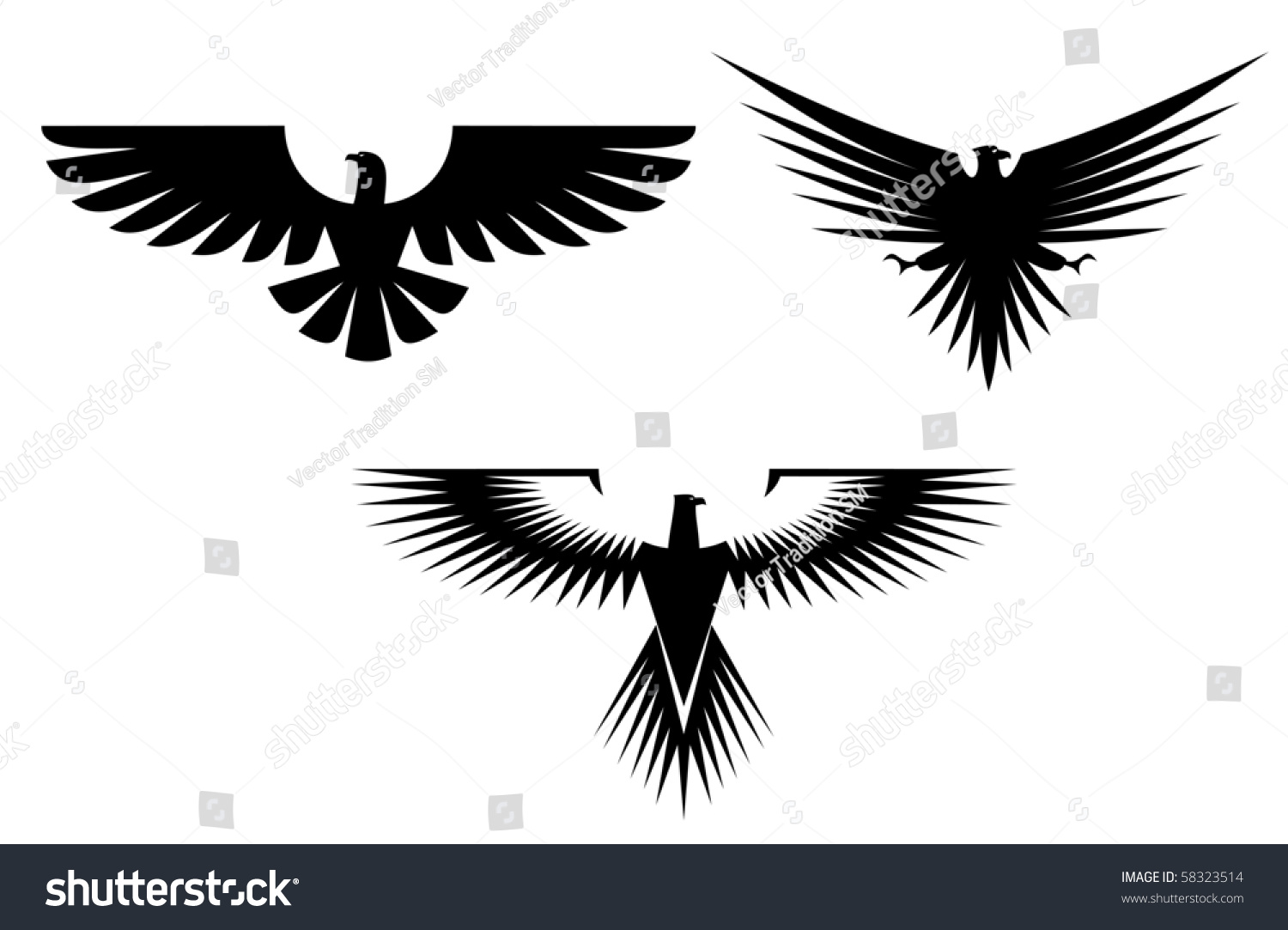 Eagle symbol isolated on white emblem stock illustration 58323514 eagle symbol isolated on white also as emblem such a logo vector version biocorpaavc Gallery