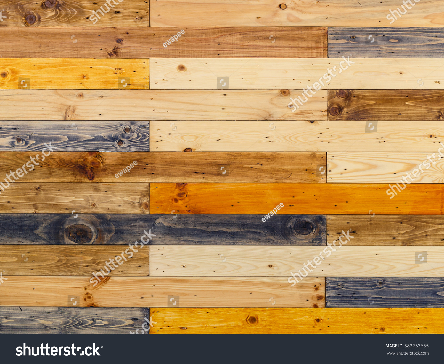 Wooden Panels Wall Background Different Types Stock Photo (Edit Now ...