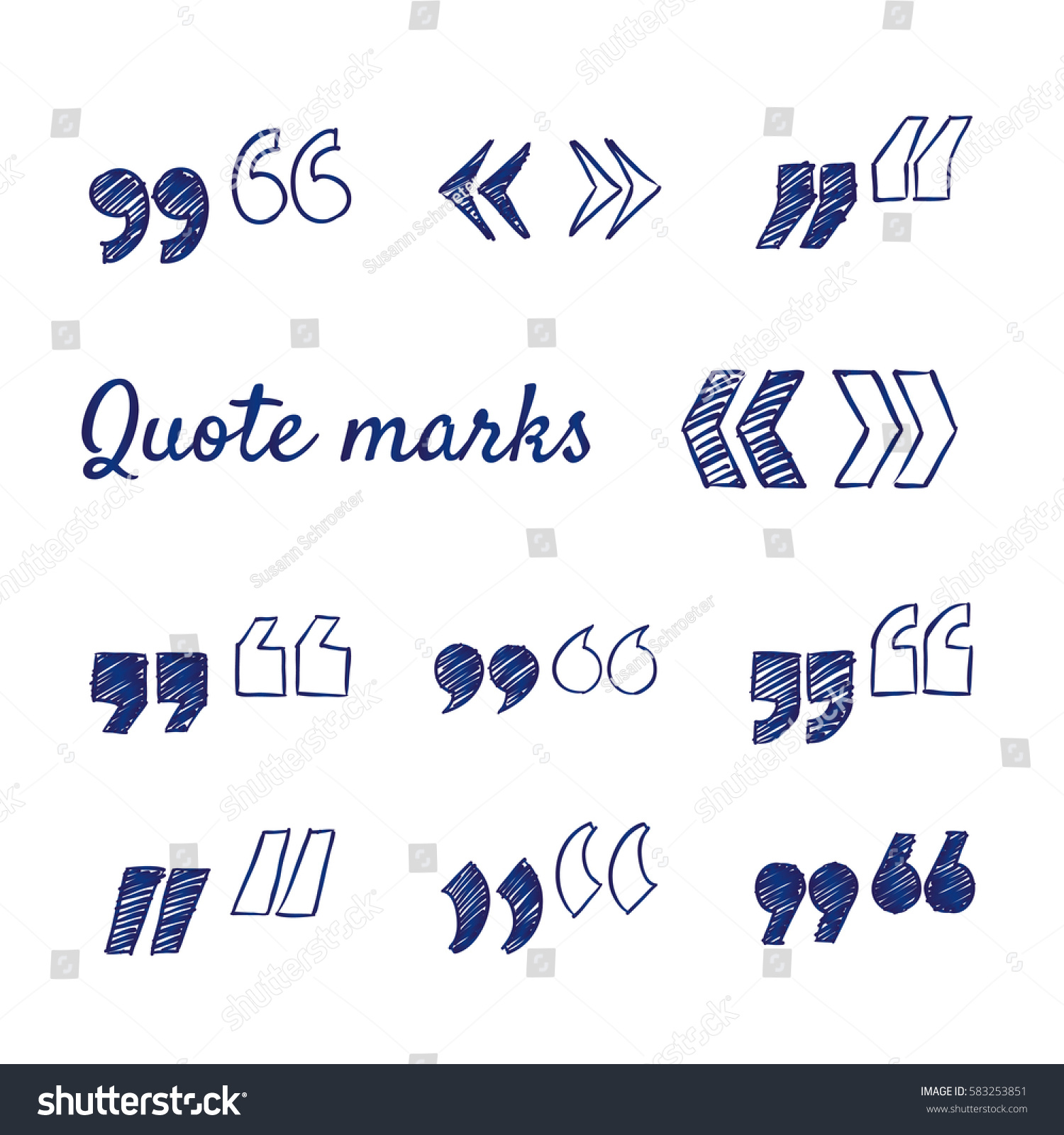 Doodle set quote marks quotes icon stock vector 583253851 doodle set of quote marks quotes icon set hand drawn vector sketch biocorpaavc Image collections