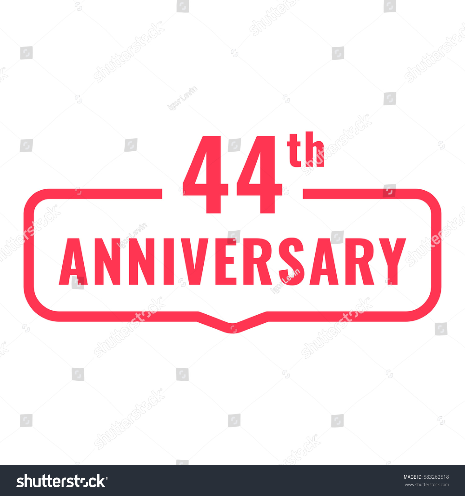 44th anniversary badge icon logo flat stock vector 583262518 44th anniversary badge icon logo flat vector illustration on white background can biocorpaavc Gallery