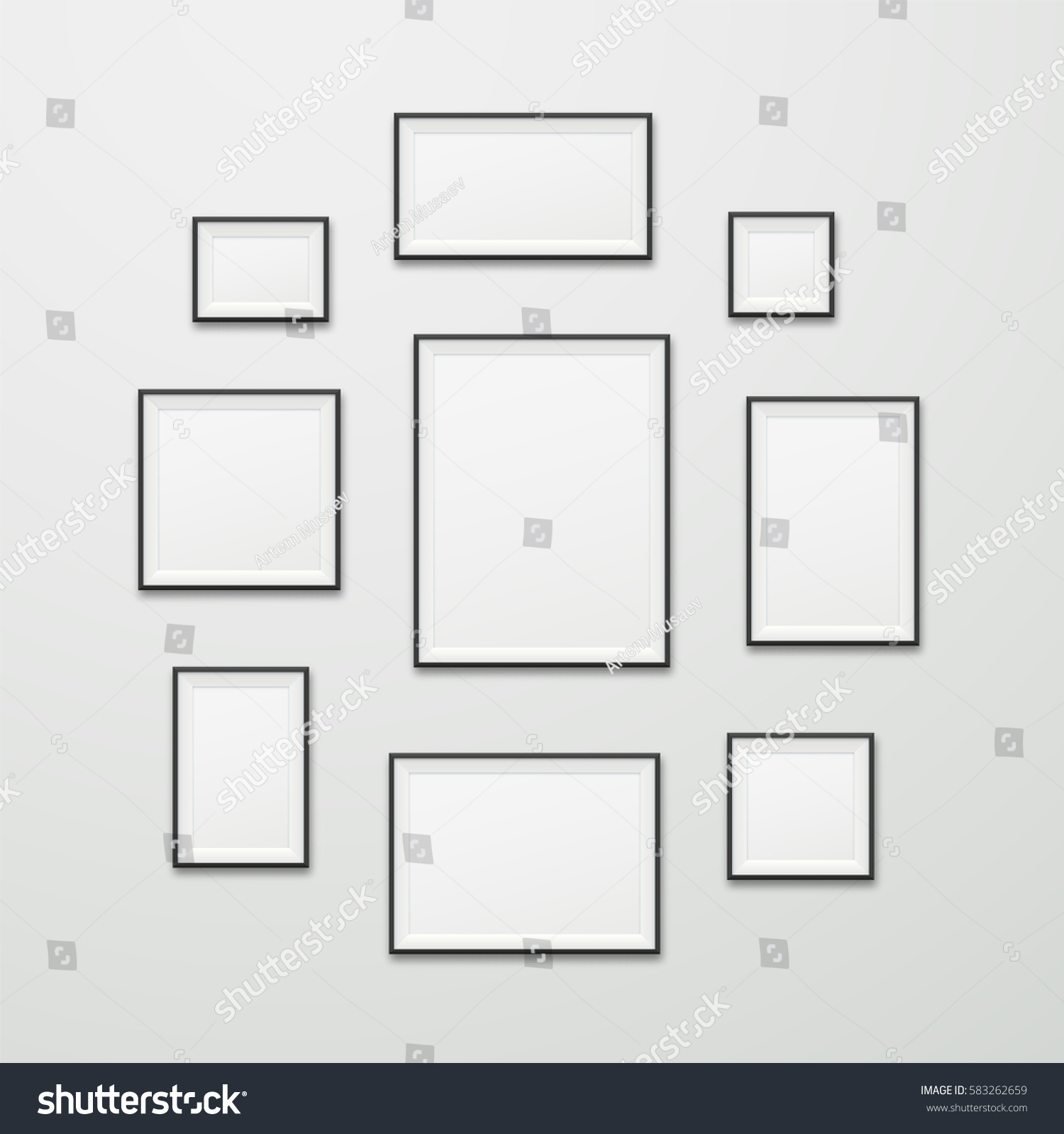 Simple Vector Wooden Blank Framers Different Stock Vector (Royalty ...