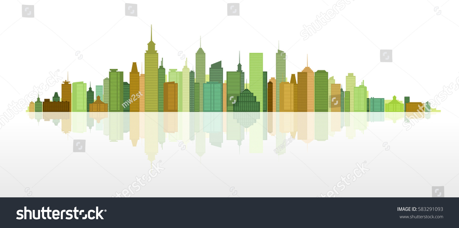 Modern Architectural Forms cityscape combination modern architectural forms highrise stock