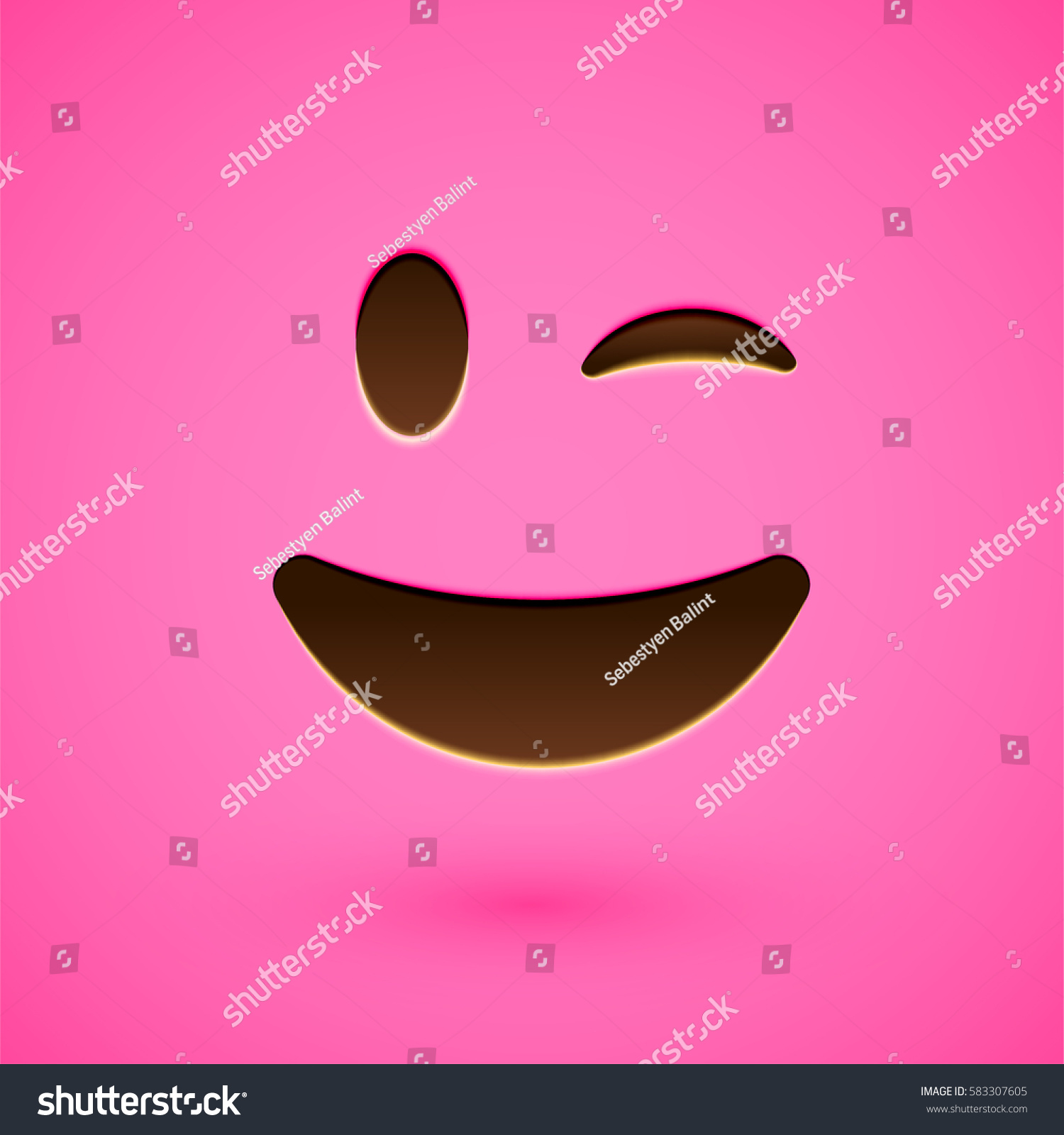 Clean And Shiny Smiley Face Emoticon Vector Illustration Ez Canvas
