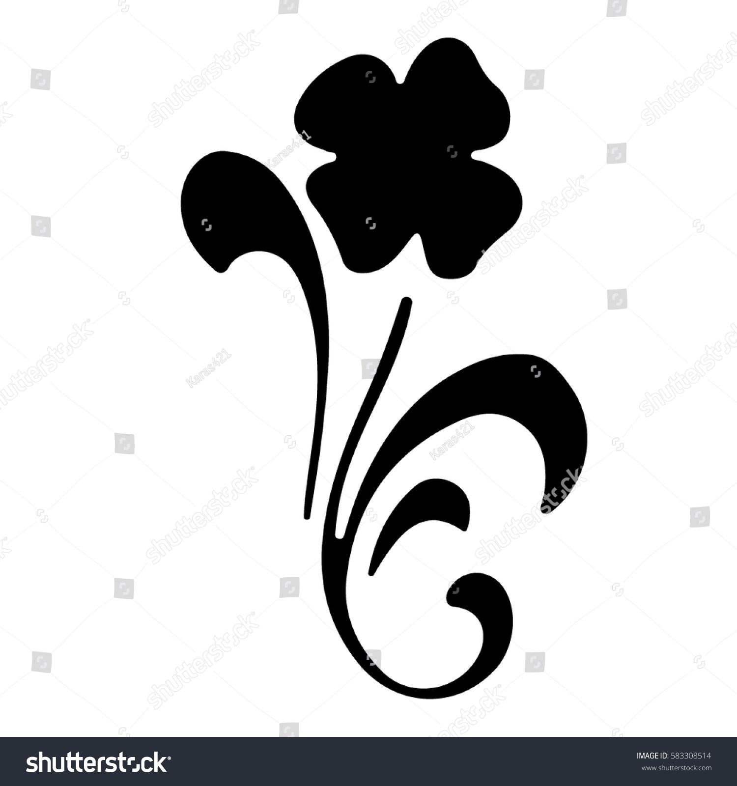Beautiful Flower Stencil Fine Premises Vector Stock Vector Royalty