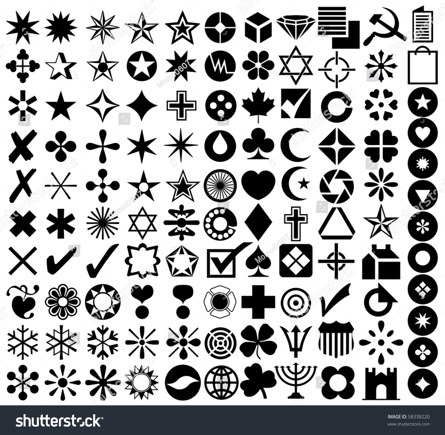 Various Kind Signs Symbols Stock Illustration 58338220 Shutterstock