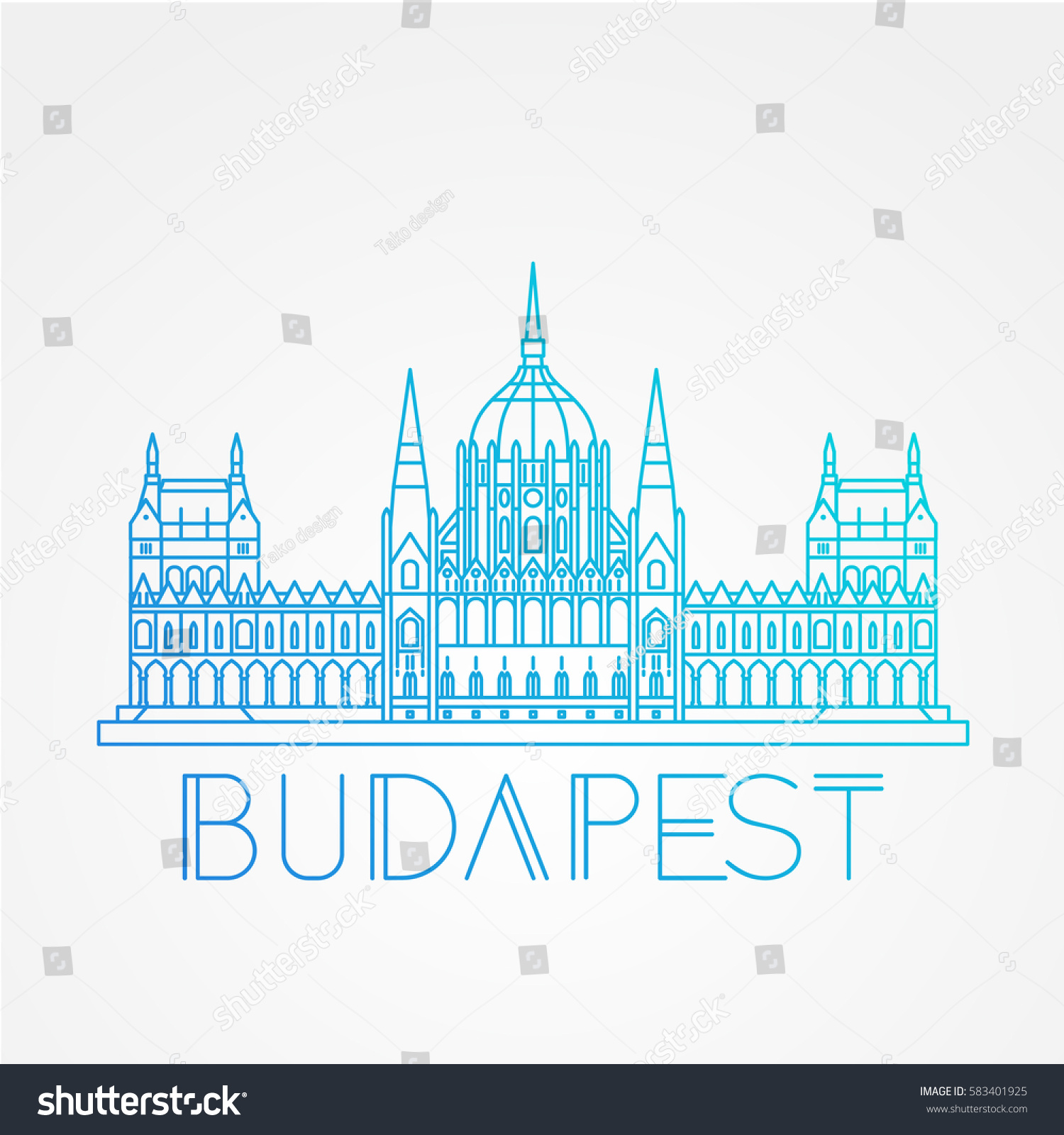 Hungarian Parliament Building Known House Country Stock