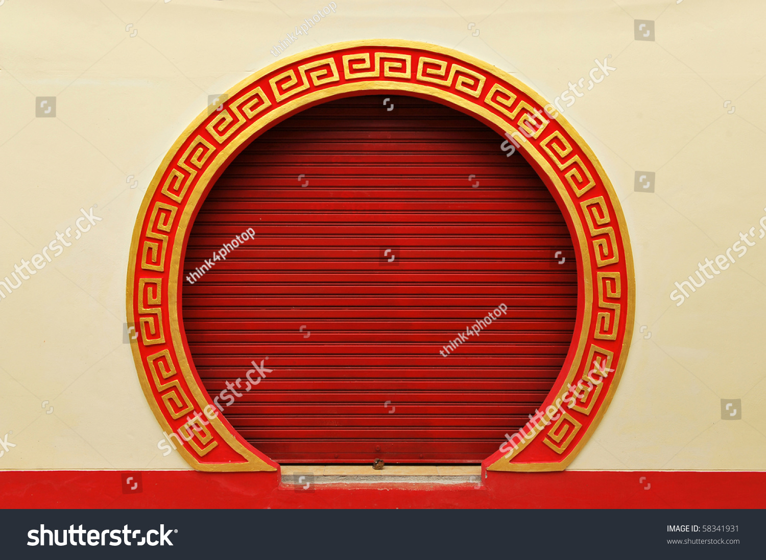 Red Door Chinese Temple Stock Photo Royalty Free 58341931