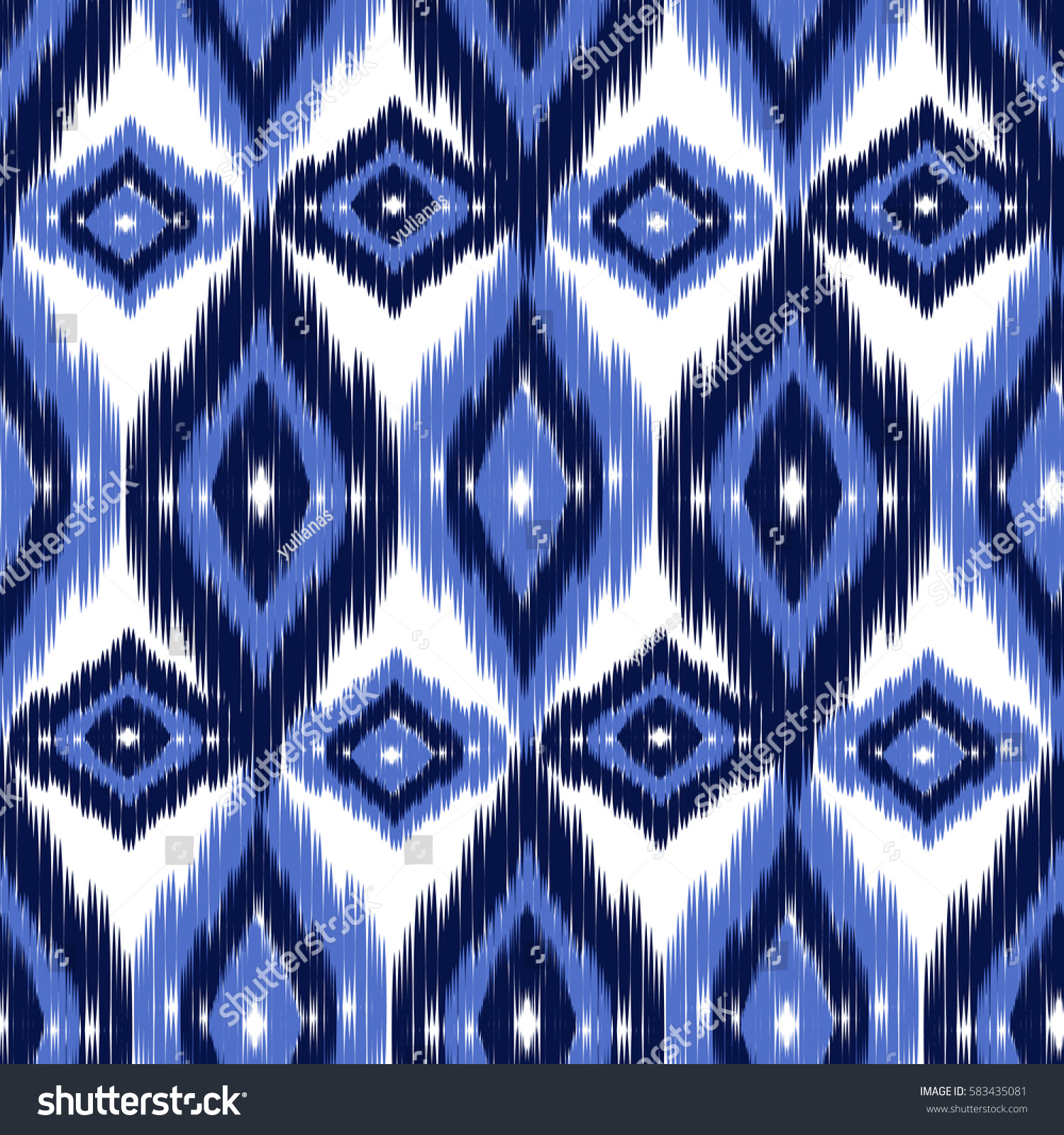 Blue Ikat Ogee Seamless Background Pattern Stock Vector HD Wallpapers Download Free Images Wallpaper [1000image.com]