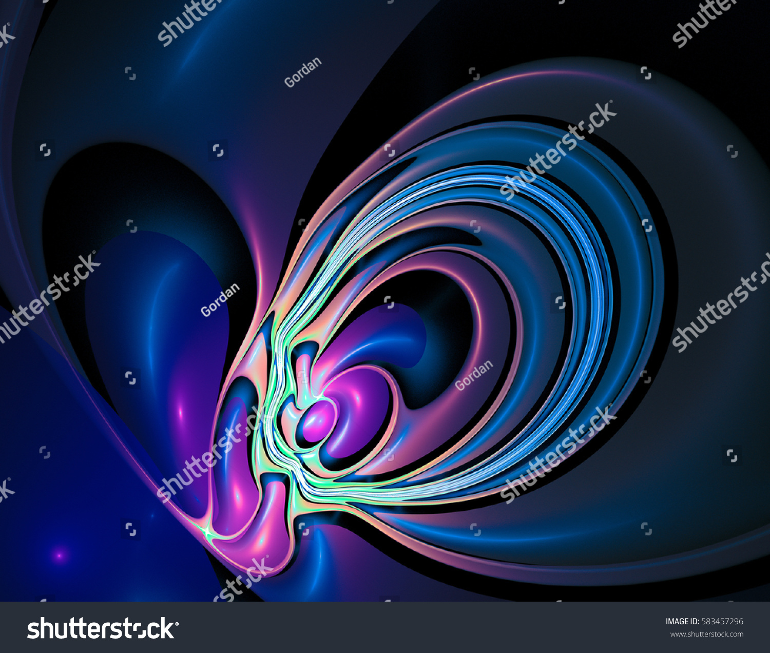 abstract fractal background colorful computer design stock