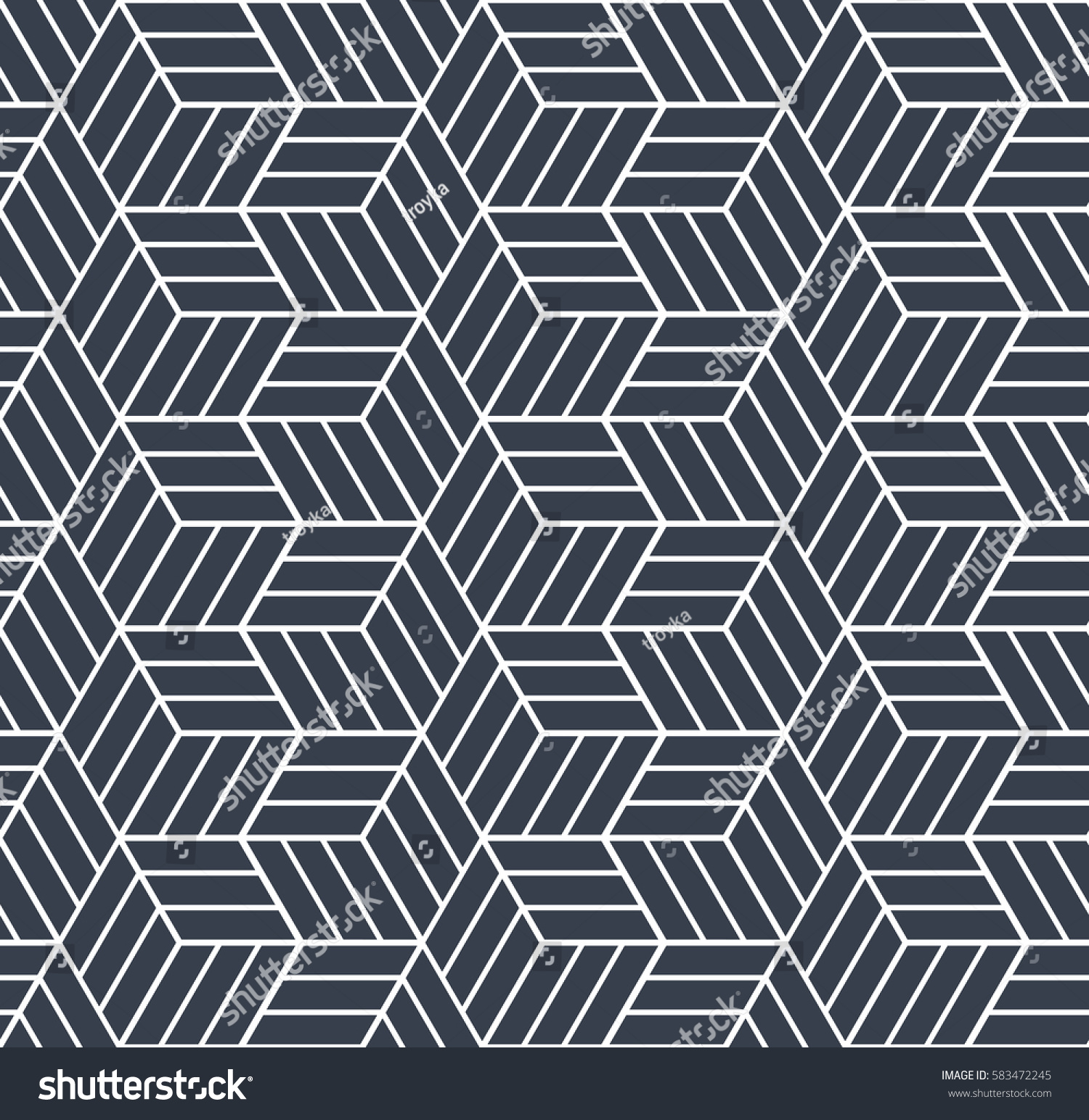 Seamless op art pattern 3d illusion stock vector 583472245 for Geometric illusion art