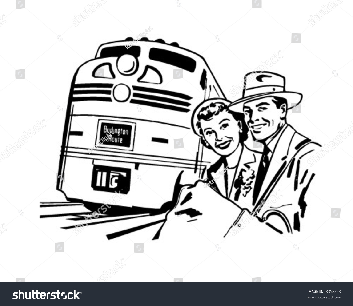 vintage travel clipart black and white - photo #26