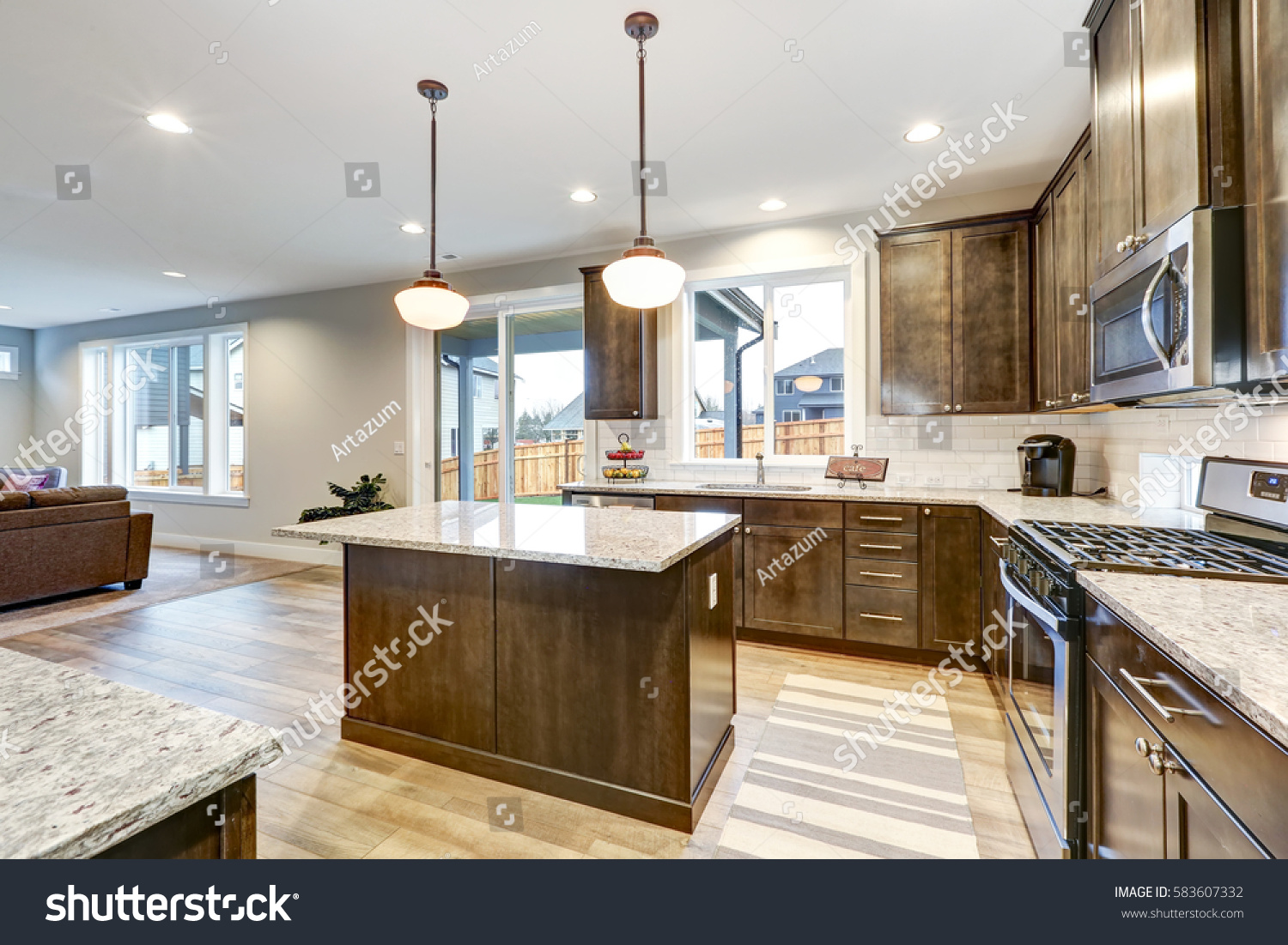 Light Filled Northwest Kitchen Design Kitchen Stock Photo Edit