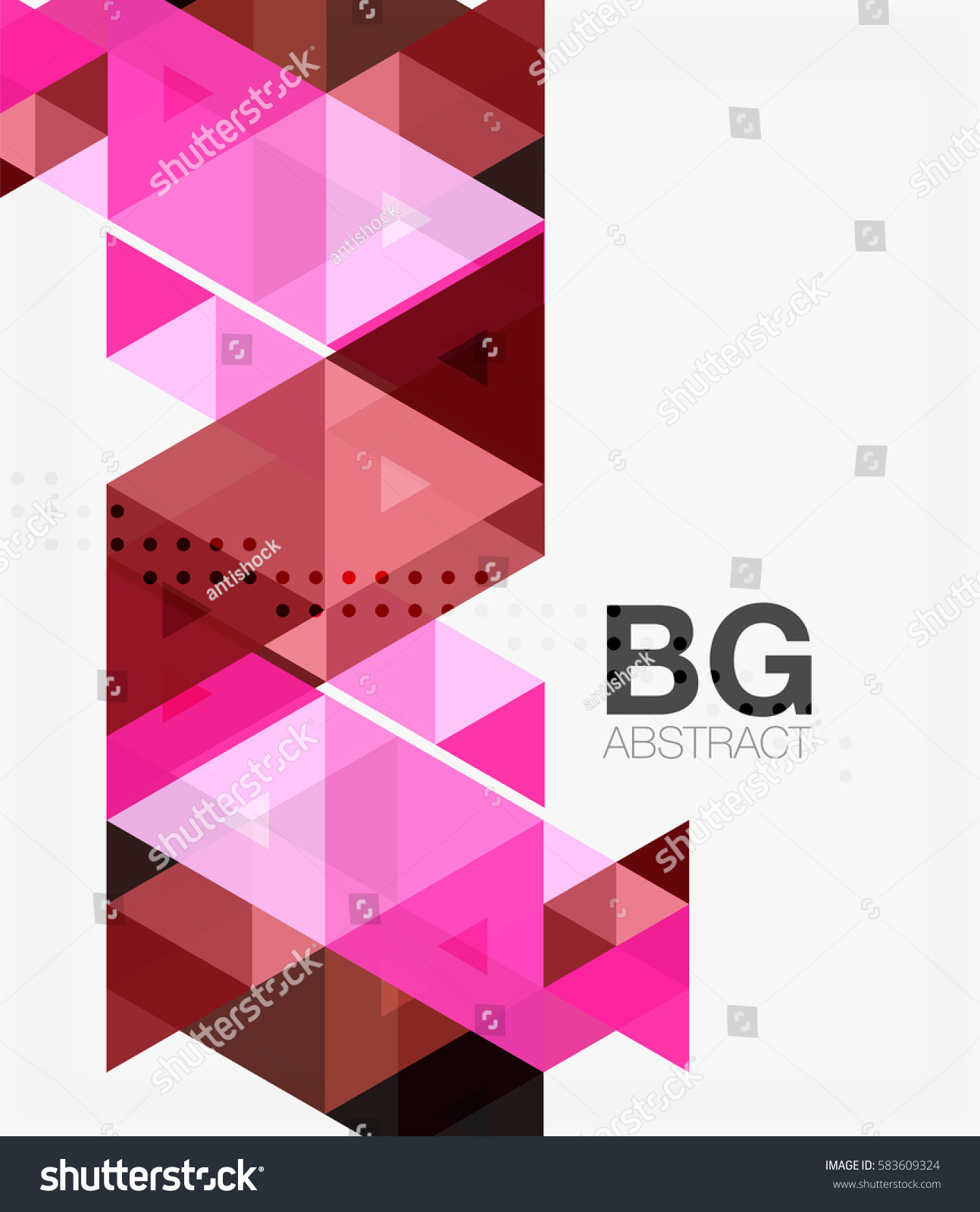Vector Abstract Colorful Triangle Repetition Vector Stock Vector ...