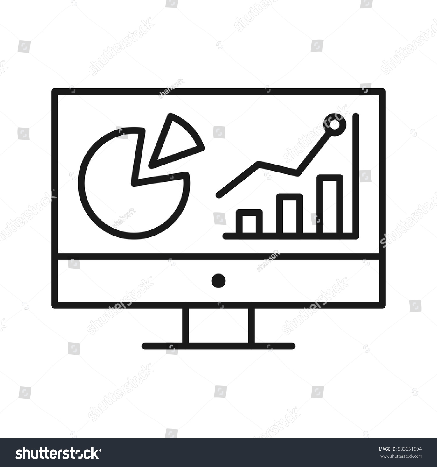 Analysis Line Icon Stock Vector 583651594 - Shutterstock