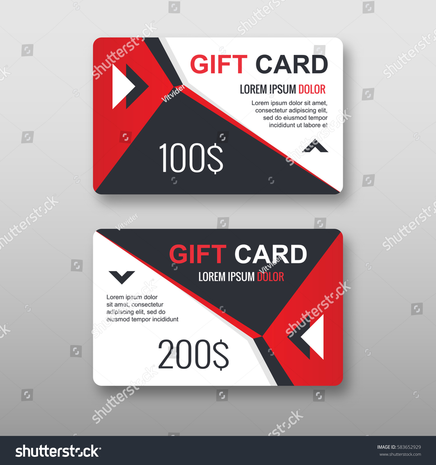 Set Gift Discount Cards Layout Templates Stock Photo (Photo, Vector ...