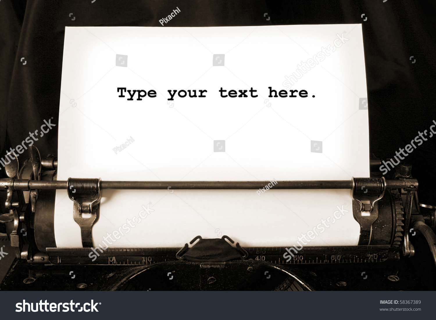 old type writer blank sheet paper stock photo shutterstock old type writer a blank sheet of paper