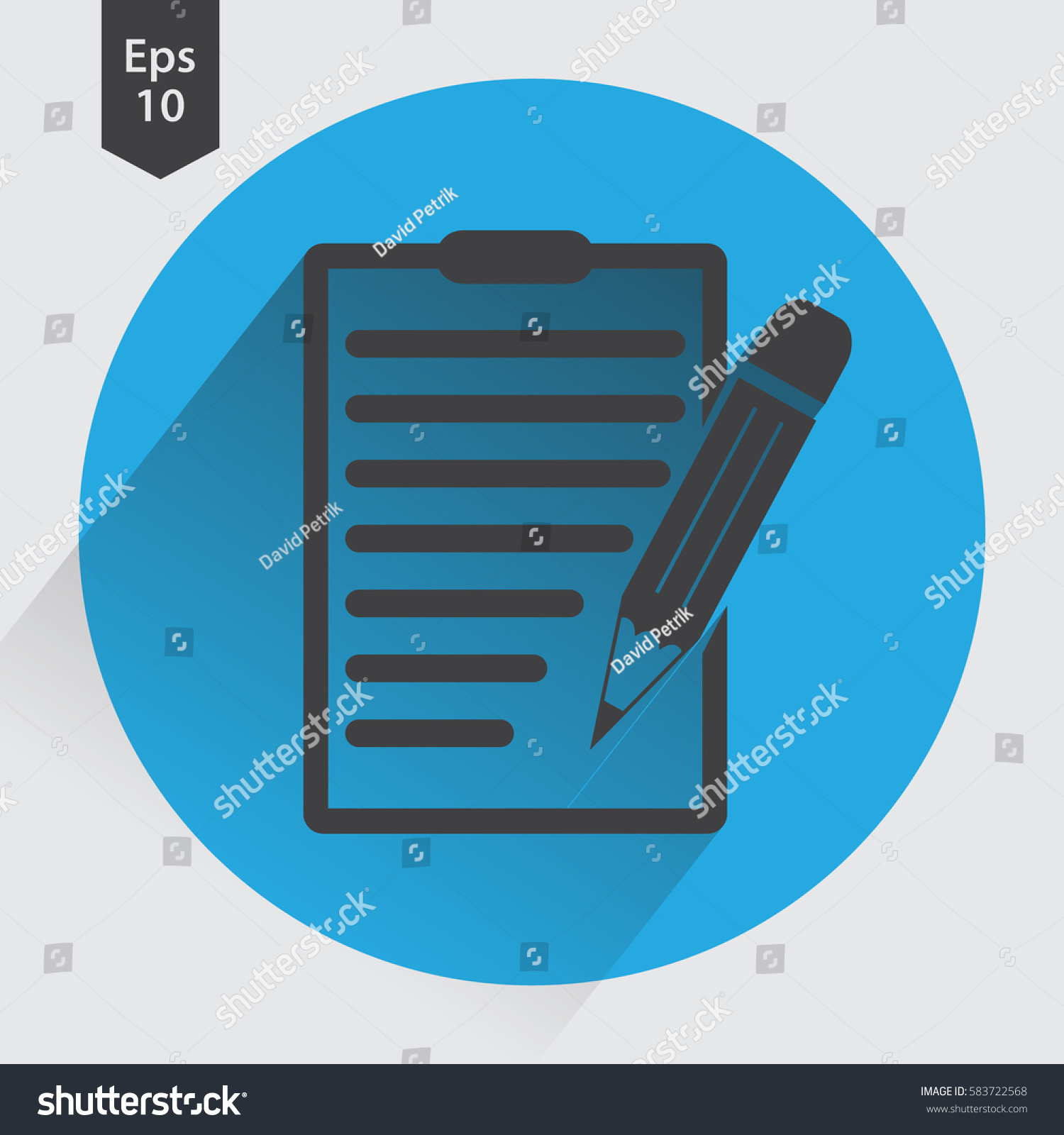 Notepad symbol simple flat icon paper stock vector 583722568 notepad symbol simple flat icon of paper and pen notebook with some text biocorpaavc Choice Image