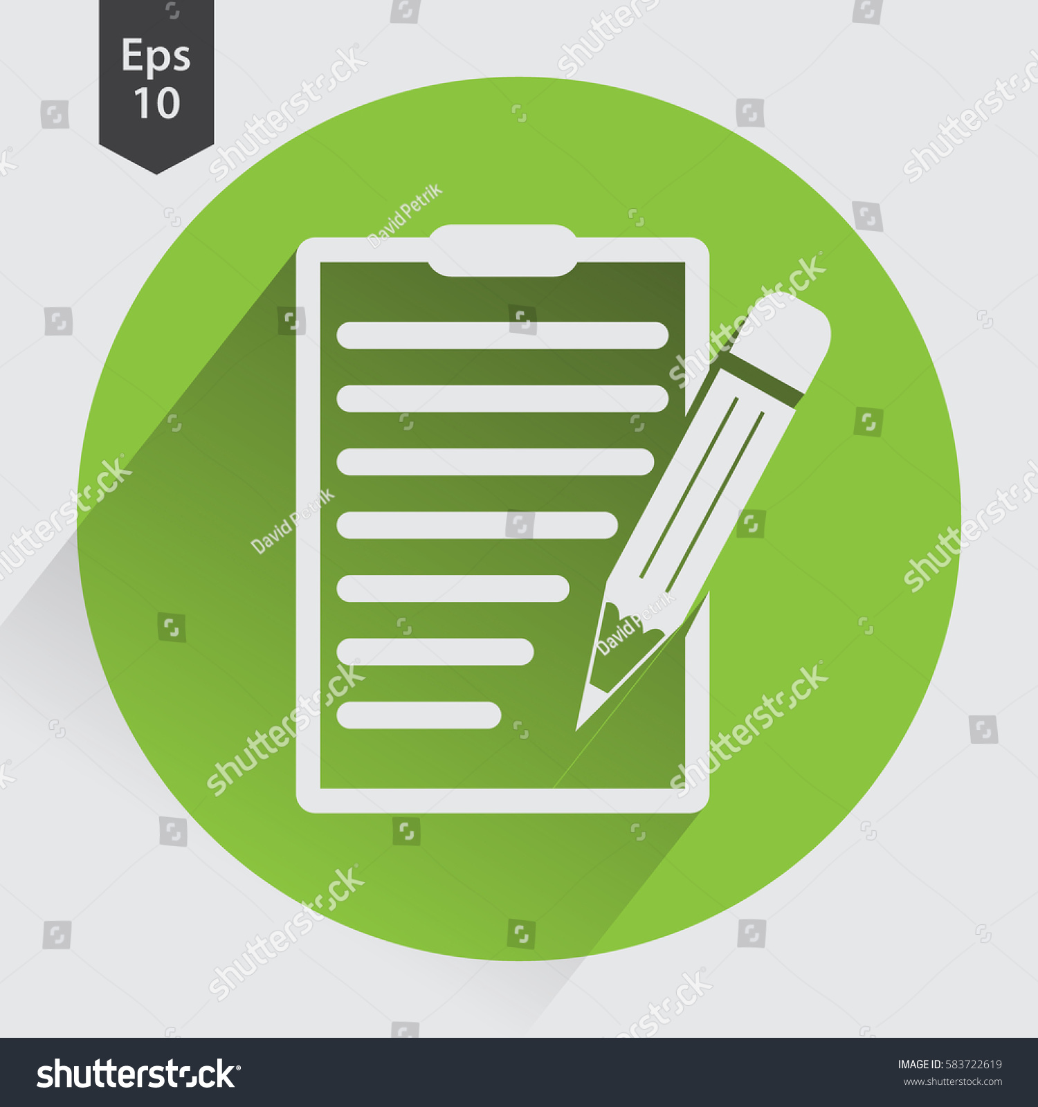 Notepad symbol simple flat icon paper stock vector 583722619 notepad symbol simple flat icon of paper and pen notebook with some text biocorpaavc Choice Image