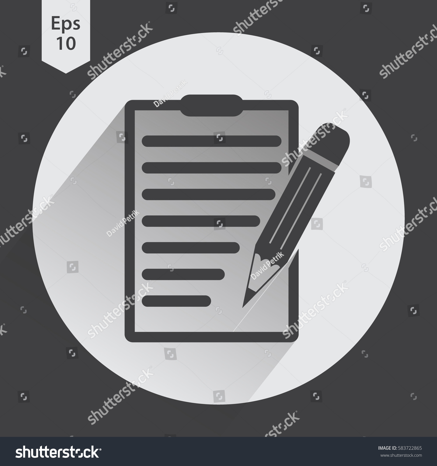 Notepad symbol simple flat icon paper stock vector 583722865 notepad symbol simple flat icon of paper and pen notebook with some text biocorpaavc Choice Image