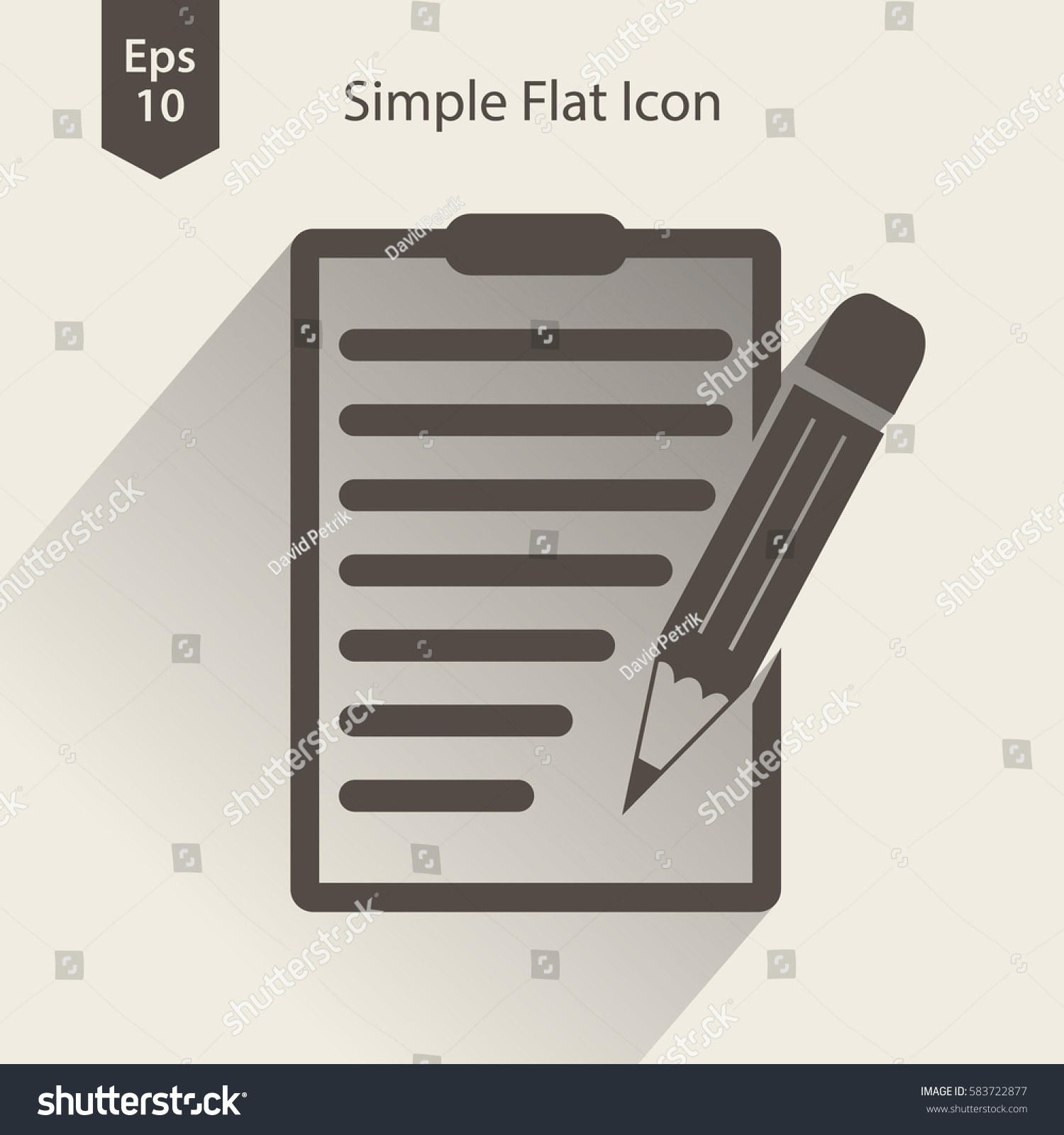 Notepad symbol simple flat icon paper stock vector 583722877 notepad symbol simple flat icon of paper and pen notebook with some text biocorpaavc Choice Image