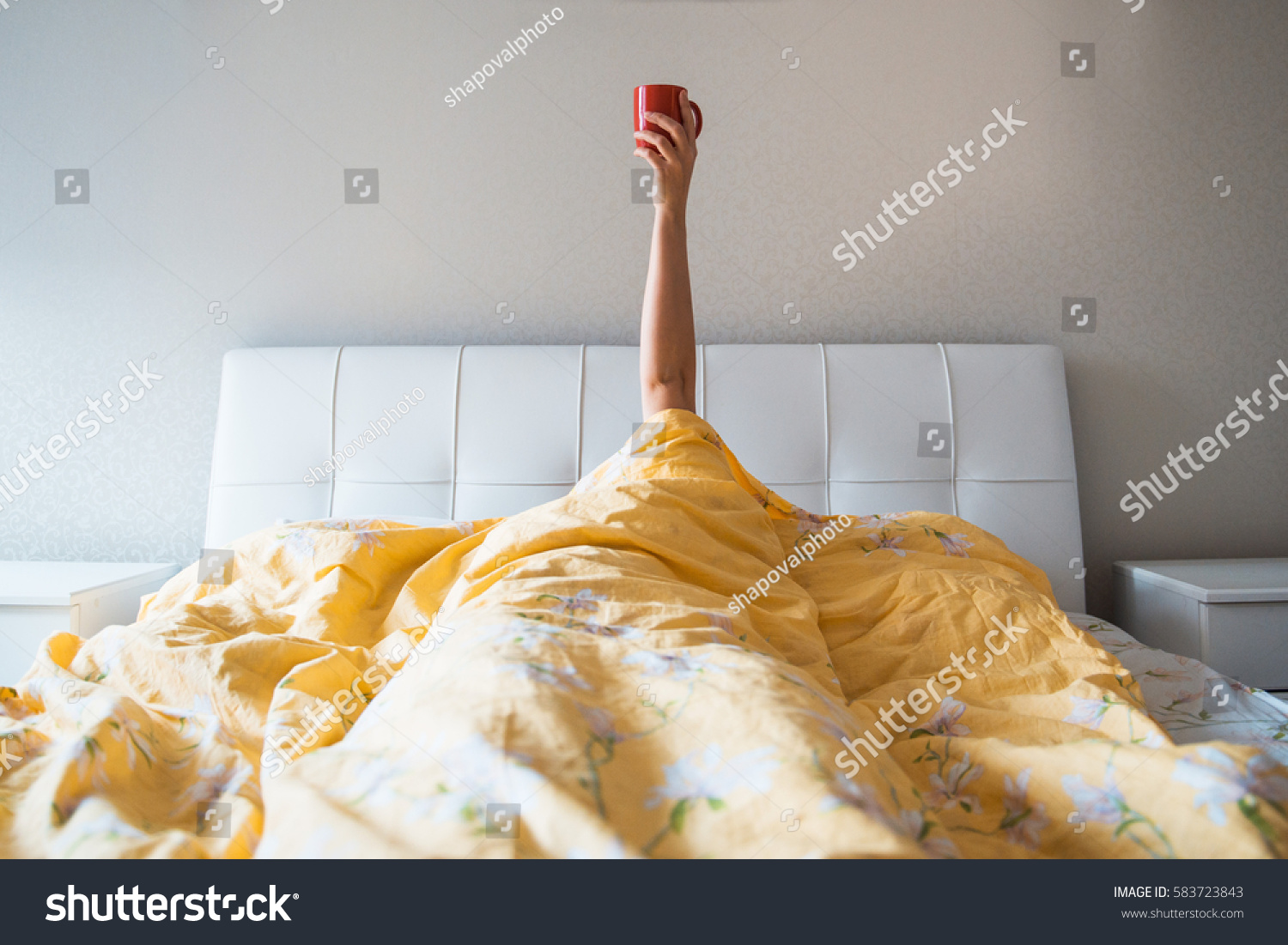 morning coffee in bed #583723843