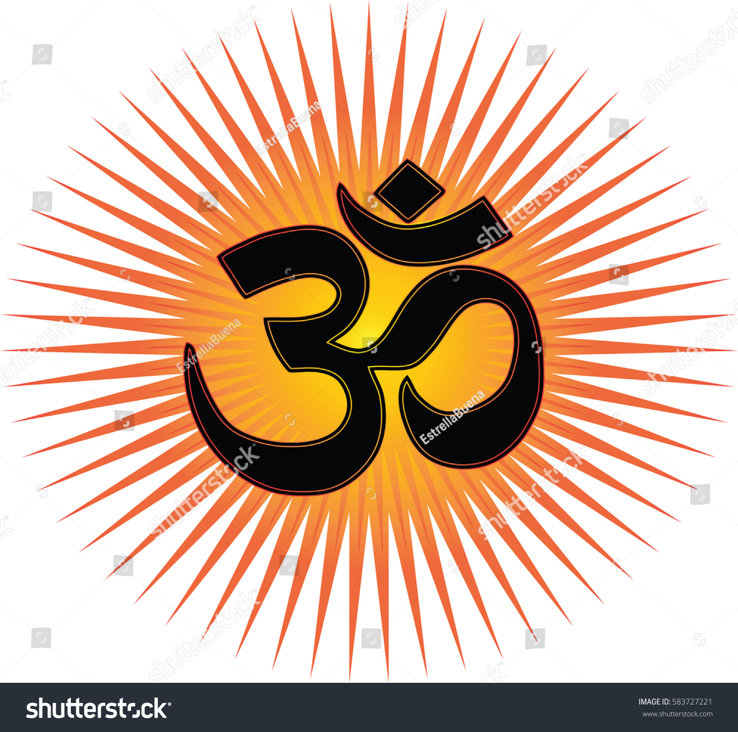 Most Important Symbol Hinduism Om Transparent Stock Vector Royalty