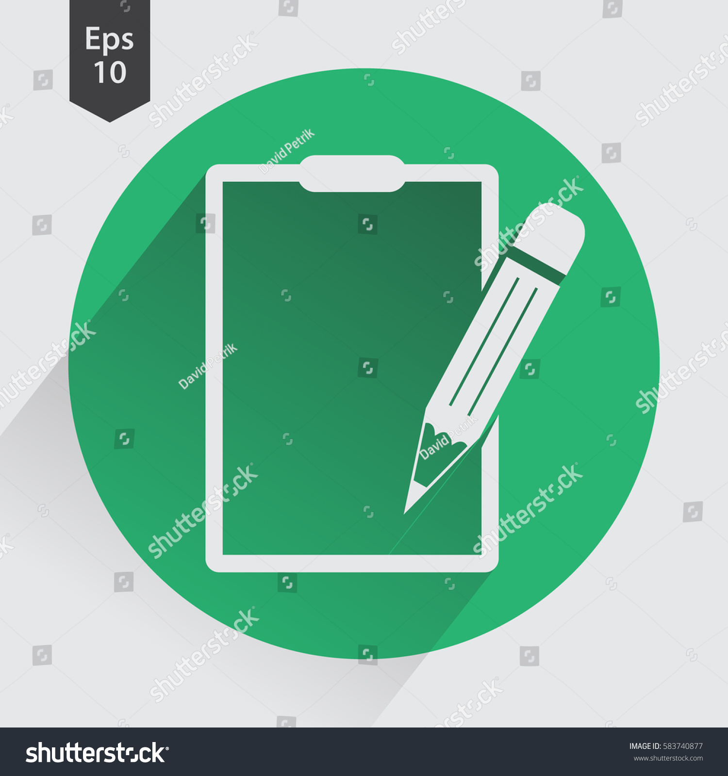 Notepad symbol simple flat icon paper stock vector 583740877 notepad symbol simple flat icon of paper and pen notebook with some text biocorpaavc Choice Image