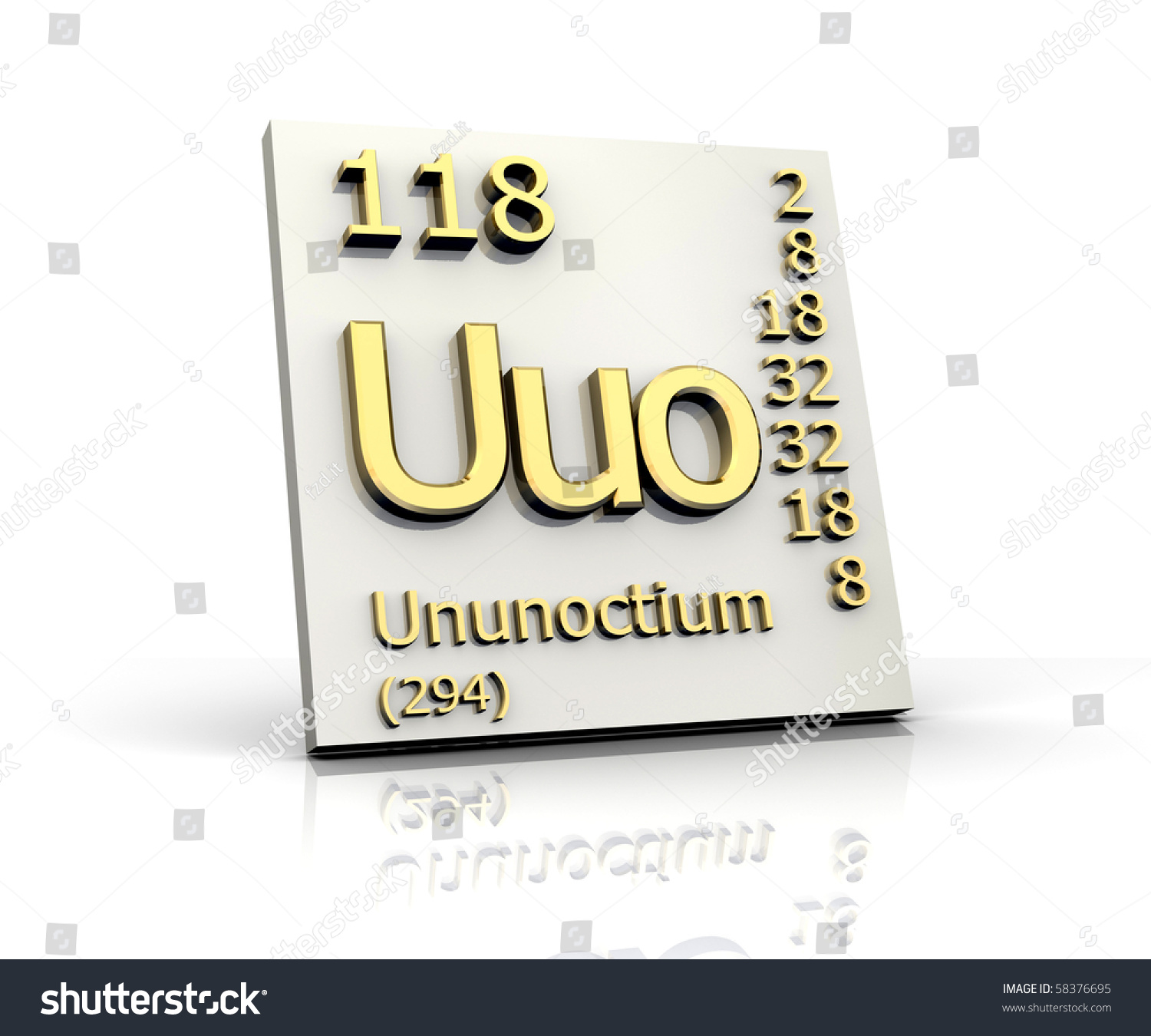 Ununoctium periodic table elements 3d made stock illustration ununoctium periodic table elements 3d made stock illustration 58376695 shutterstock urtaz Images