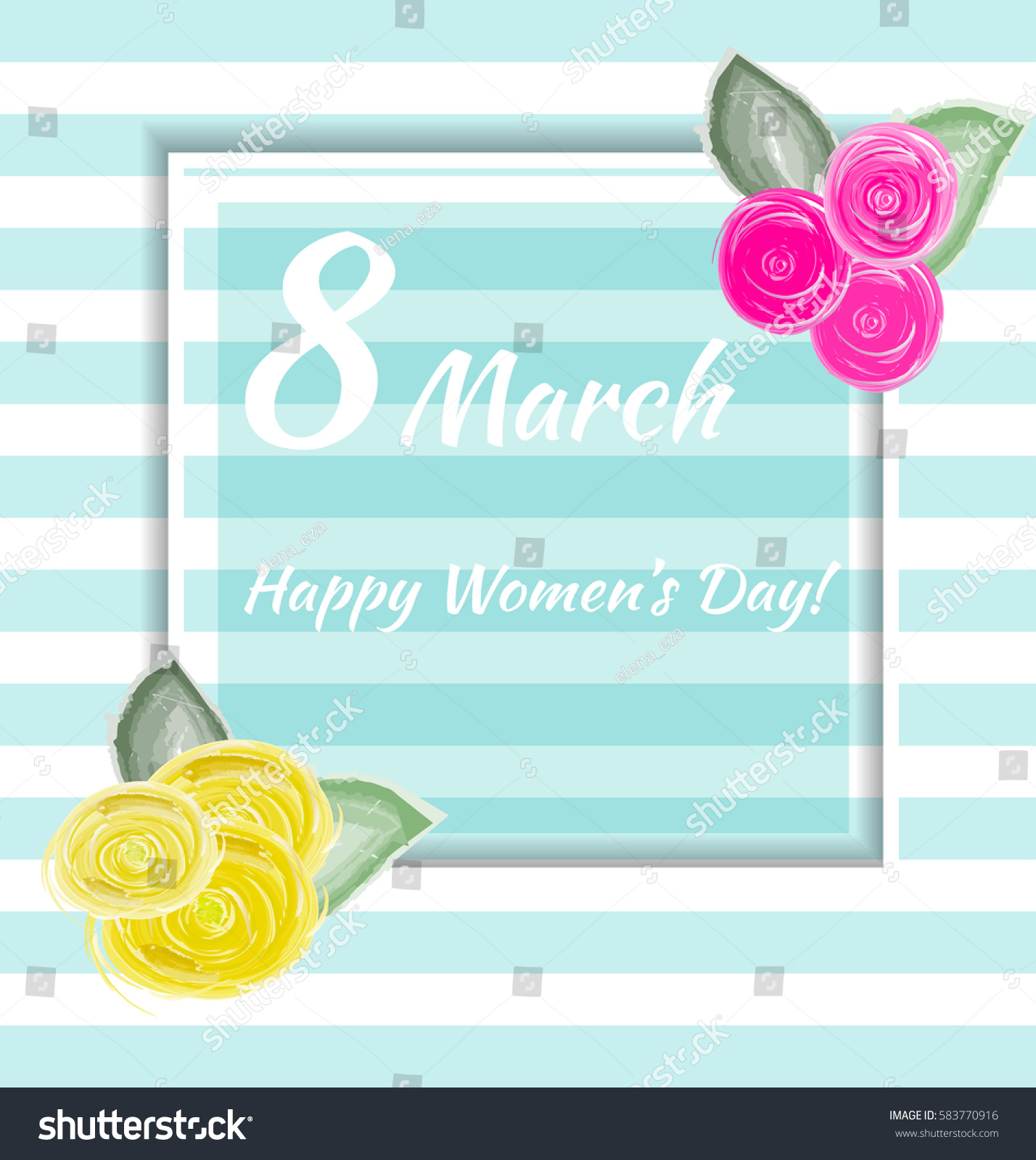 8 march vector card international womens stock vector 583770916 vector card for international womens day also template can be used as kristyandbryce Images