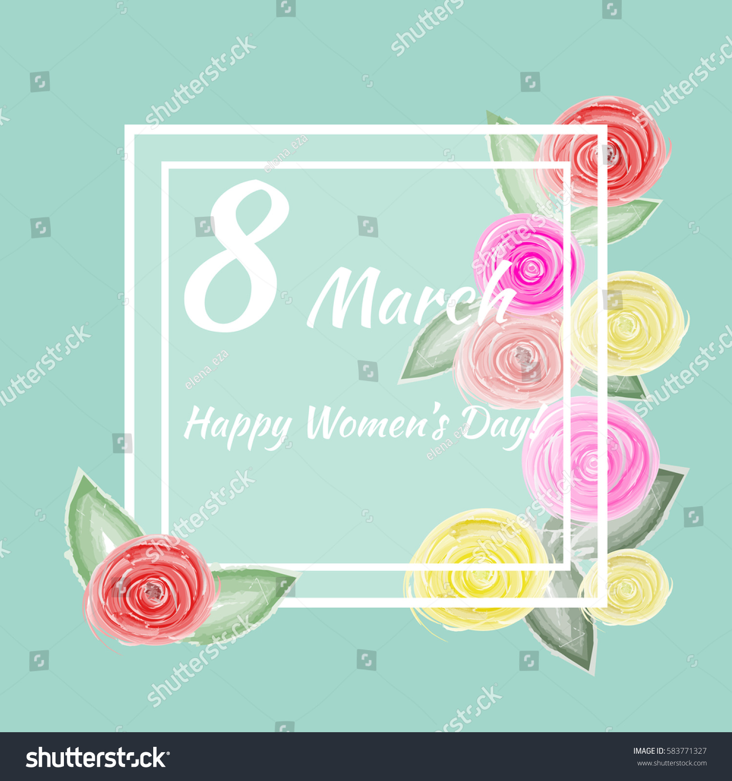 8 march vector card international womens stock vector 583771327 vector card for international womens day also template can be used as kristyandbryce Images