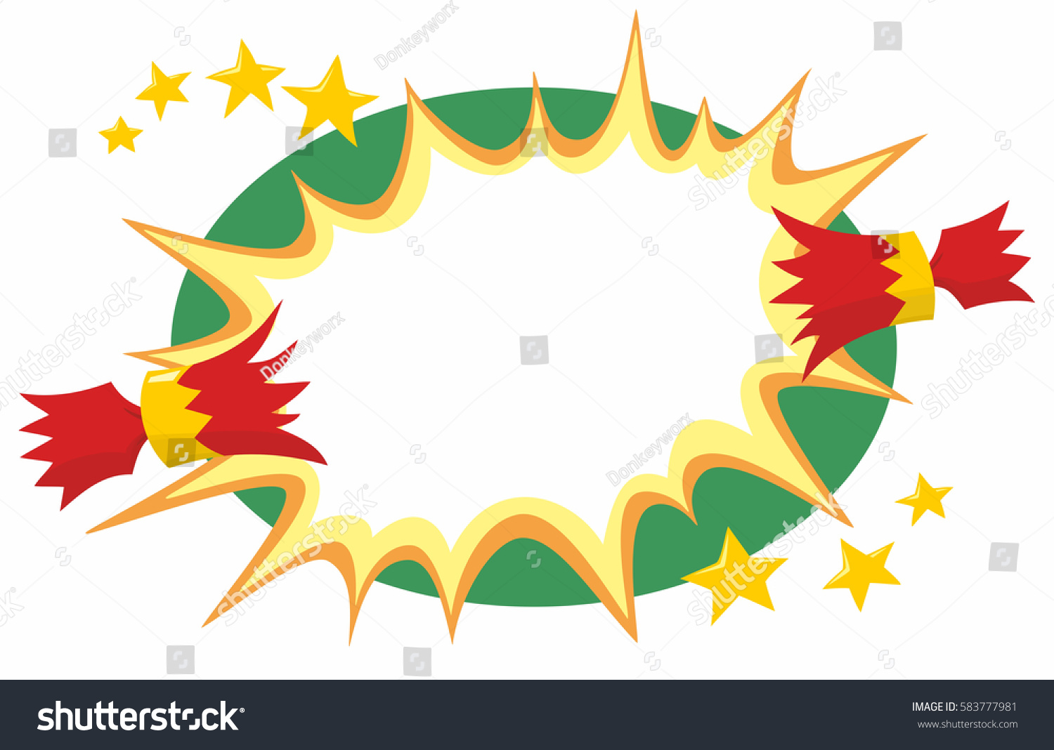 Christmas Crackers Cartoon.Christmas Cracker Red Gold Being Pulled Stock Vector