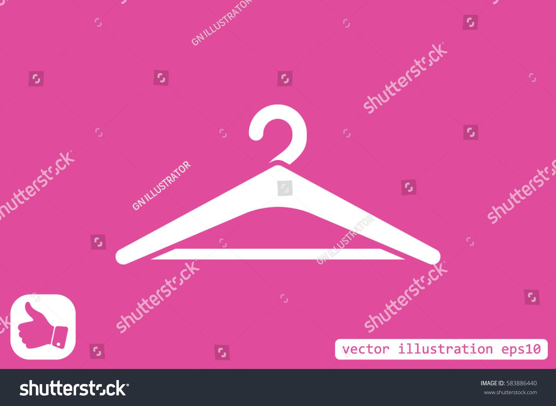Coat rack symbol hanger icon vector stock vector 583886440 coat rack symbol hanger icon vector illustration buycottarizona