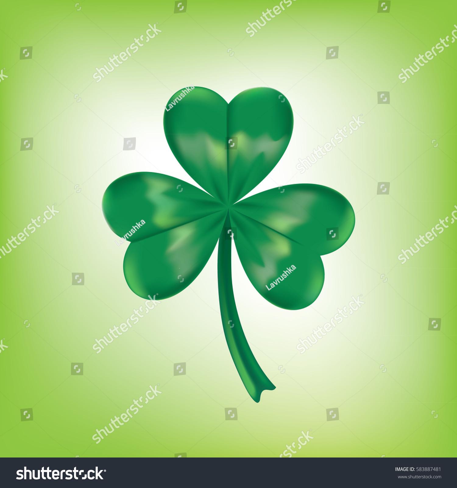 Vector leaf clover shamrock irish symbol stock vector 583887481 vector leaf clover shamrock irish symbol the traditional symbol of st patricks biocorpaavc